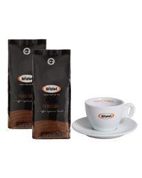 Bristot koffiebonen Speciale (2x1kg + cappuccino tas)